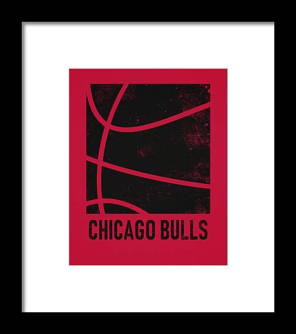 Bulls Framed Print featuring the mixed media Chicago Bulls City Poster Art 2 by Joe Hamilton