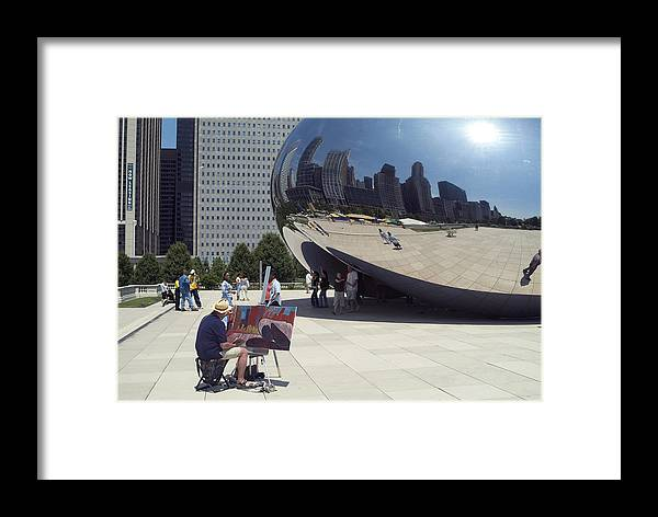 Cloud Gate Framed Print featuring the photograph Chicago by Charles Ridgway
