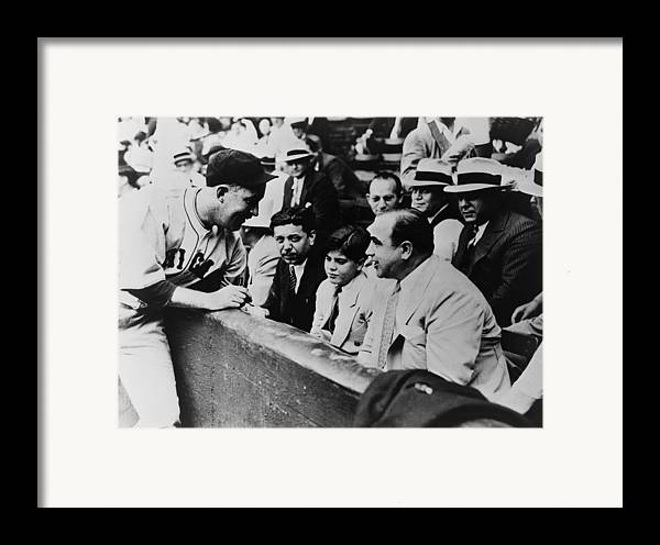 History Framed Print featuring the photograph Chicago Cubs Player Gabby Hartnett by Everett
