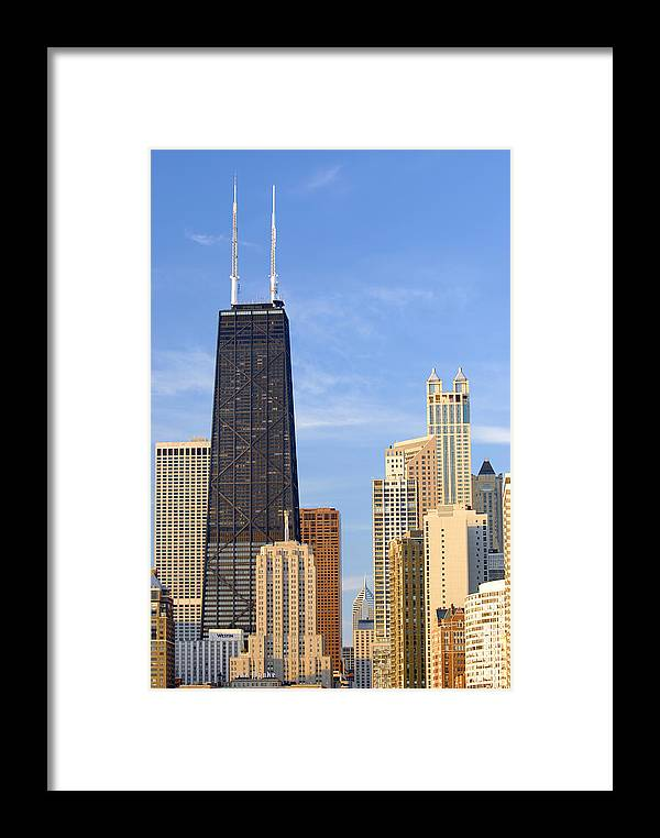 Chicago Framed Print featuring the photograph Chicago Downtown by Dmitriy Margolin