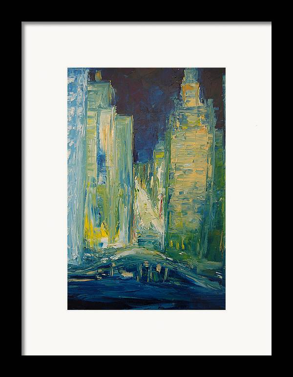 Konkol Framed Print featuring the painting Chicago Lights by Lisa Konkol