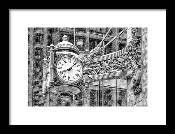 Chicago Marshall Field State Street Clock Black and White by Christopher Arndt