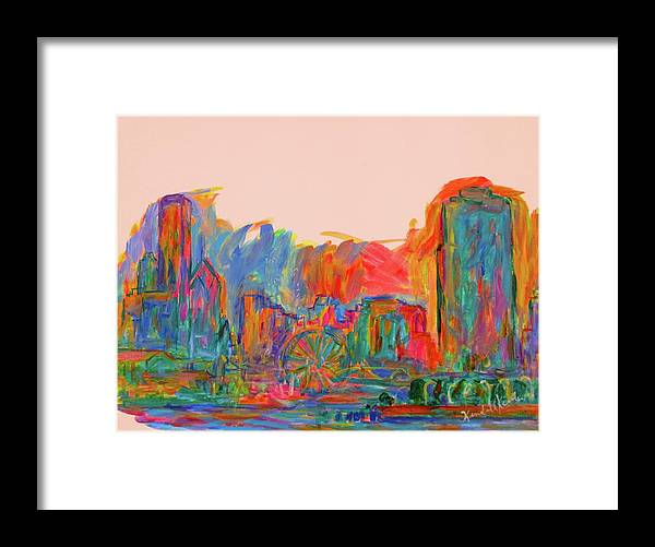 Chicago Prints For Sale Framed Print featuring the painting Chicago Peace by Kendall Kessler