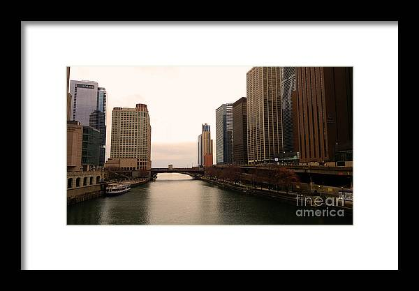 Chicago Framed Print featuring the photograph Chicago Rive by Elizabeth Coats