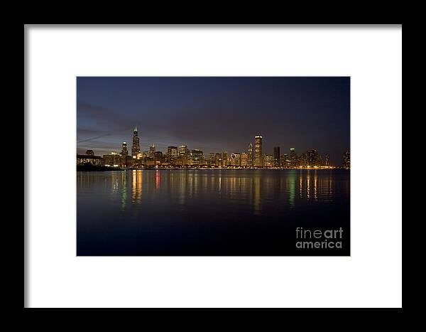 Chicago Framed Print featuring the photograph Chicago Skyline by Timothy Johnson