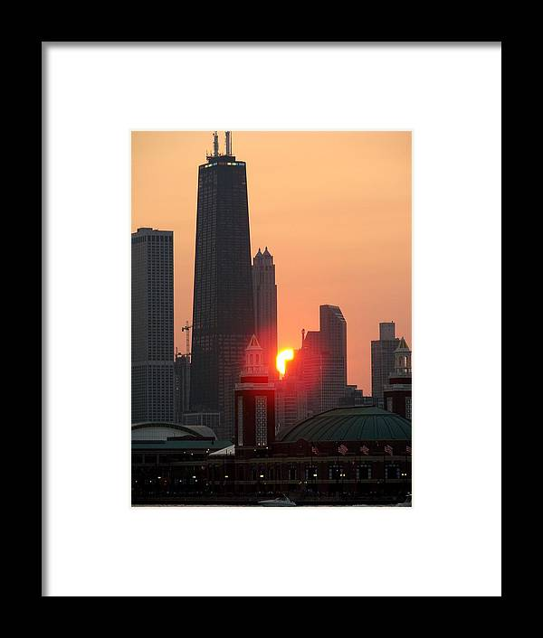 Photography Framed Print featuring the photograph Chicago Sunset by Glory Fraulein Wolfe
