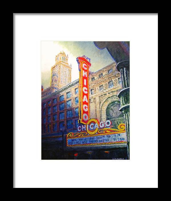 Chicago Framed Print featuring the painting Chicago Theater by Michael Durst