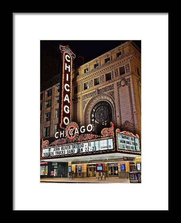 Chicago Framed Print featuring the photograph Chicago Theatre by Frozen in Time Fine Art Photography