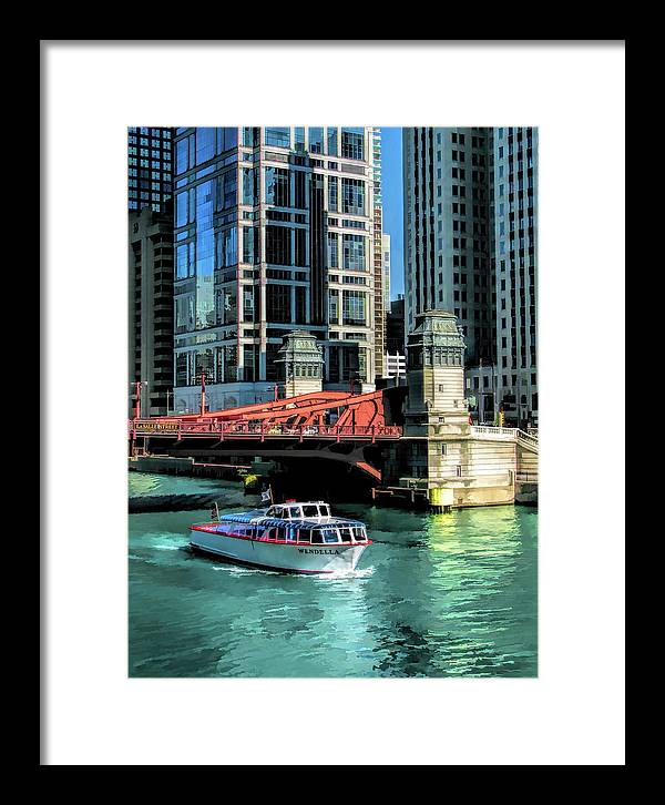 Chicago Framed Print featuring the painting Chicago Wendella Boat Tours by Christopher Arndt