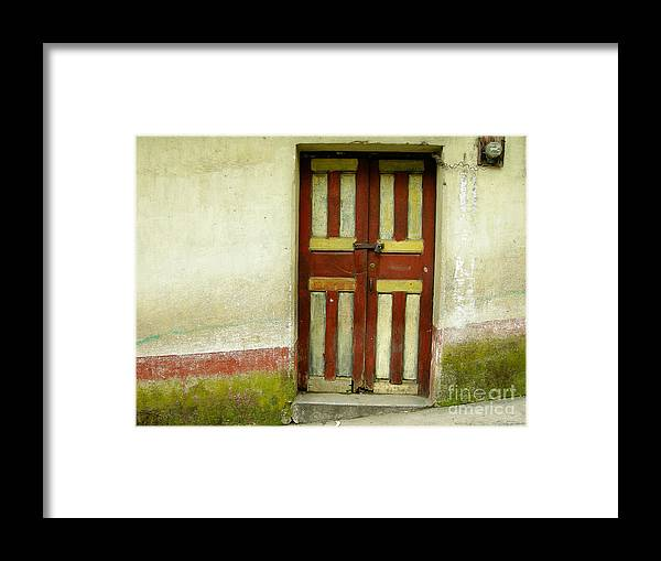 Door Framed Print featuring the photograph Chichi Door by Derek Selander