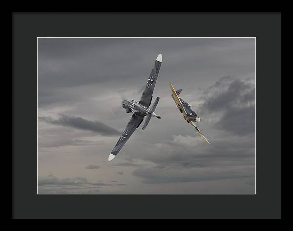 Chicken 2   Me 109 and Spitfire by Pat Speirs