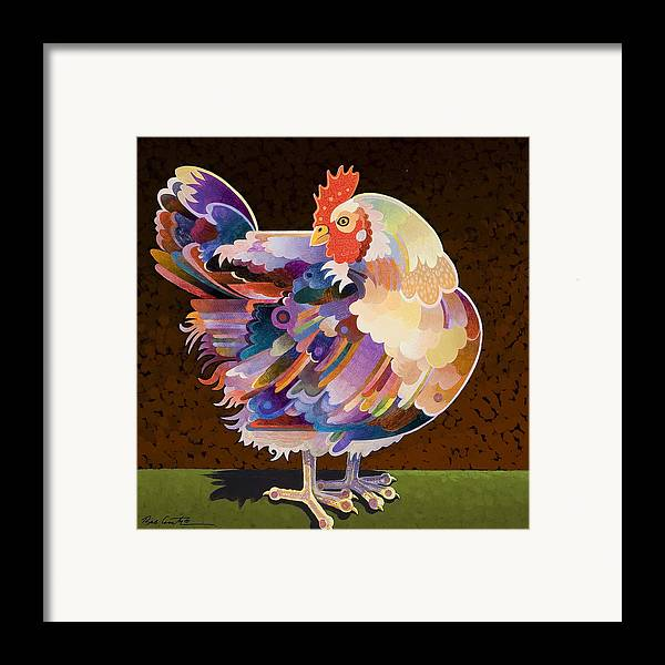 Chicken Framed Print featuring the painting Chicken From Jamestown by Bob Coonts