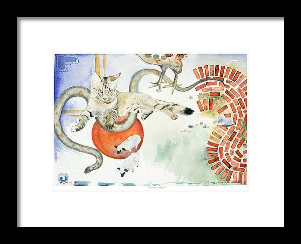 Surreal Framed Print featuring the painting Chickenfoot Serpentine by Eileen Hale