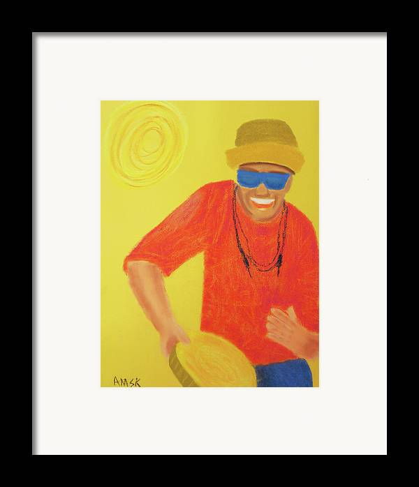 Chico Science Framed Print featuring the pastel Chico Science by Andrey Komarcheuski