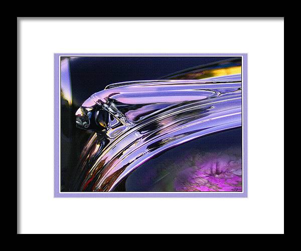 Pontiac Hood Ornament Framed Print featuring the digital art Chief Pontiac by John Breen