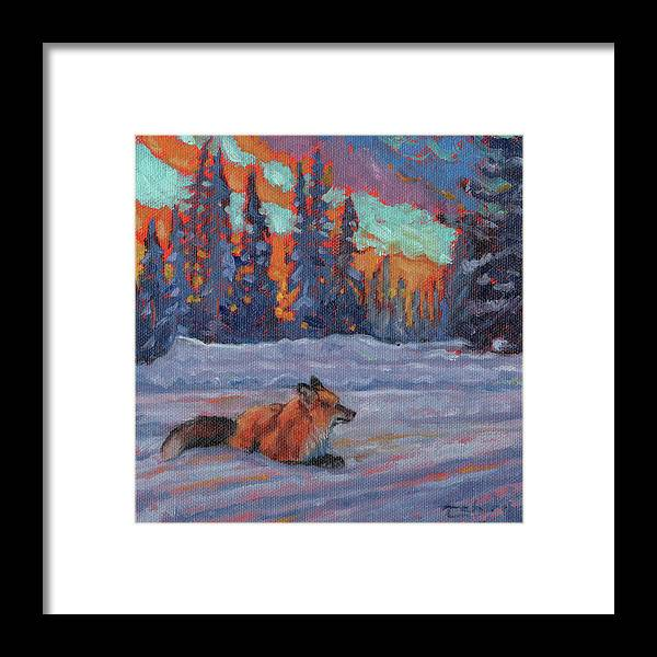 Fox Painting Framed Print featuring the painting Chilcotin Blues by Tahirih Goffic