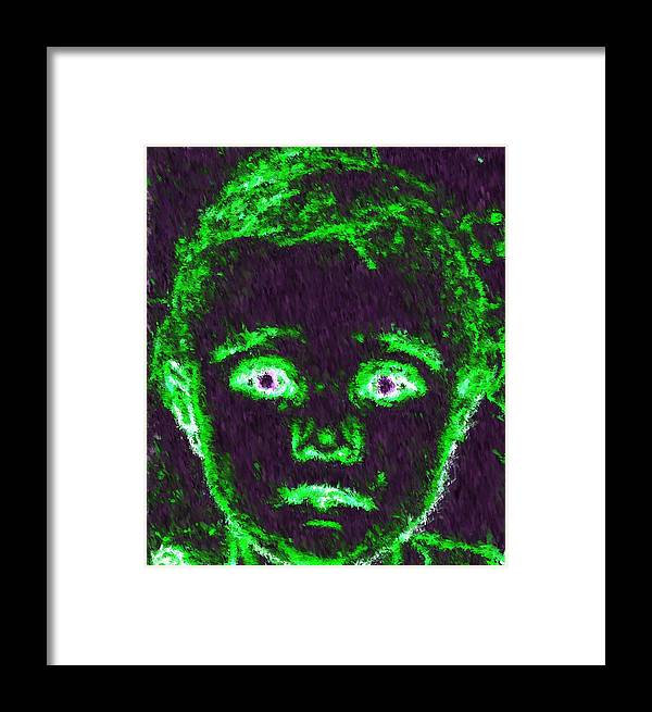 Child Framed Print featuring the painting Child Aura by Maribel McIntosh