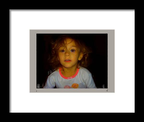 Child Framed Print featuring the painting Child Of Mine by Maribel McIntosh