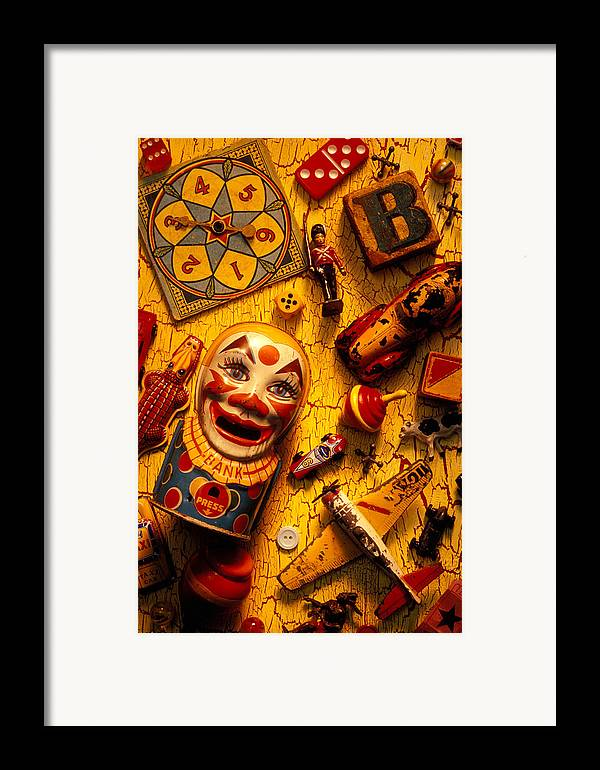 Toy Framed Print featuring the photograph Childhood Toys by Garry Gay