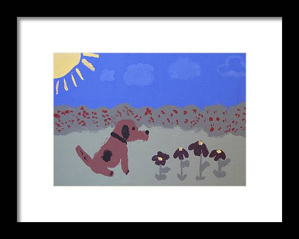 Acrylic Framed Print featuring the painting Childlike Imagination by Melissa Parks