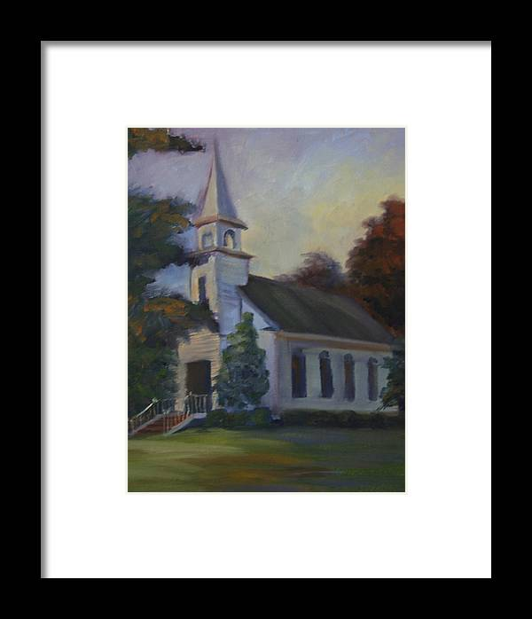 Church Framed Print featuring the painting Children by Jill Holt