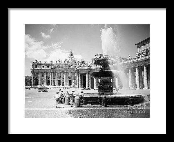 Children playing in the fountain at Vatican City, Rome, 1955 by The Harrington Collection