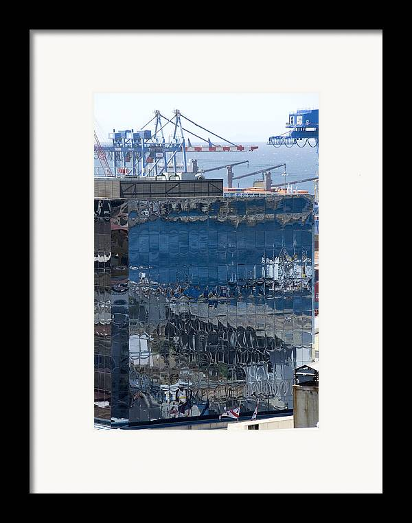 Valparaiso Chile Framed Print featuring the photograph Chile Harbor Reflections by Charles Ridgway