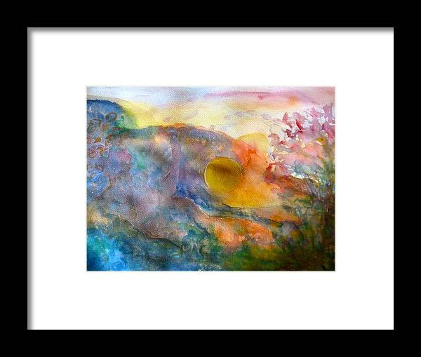 Watercolor Framed Print featuring the painting Union by Phoenix Simpson