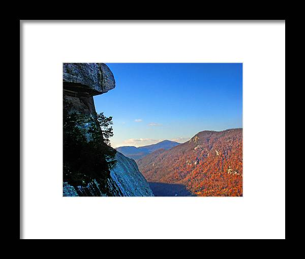 Landscape Framed Print featuring the photograph Chimney Rock 2 by Steve Karol