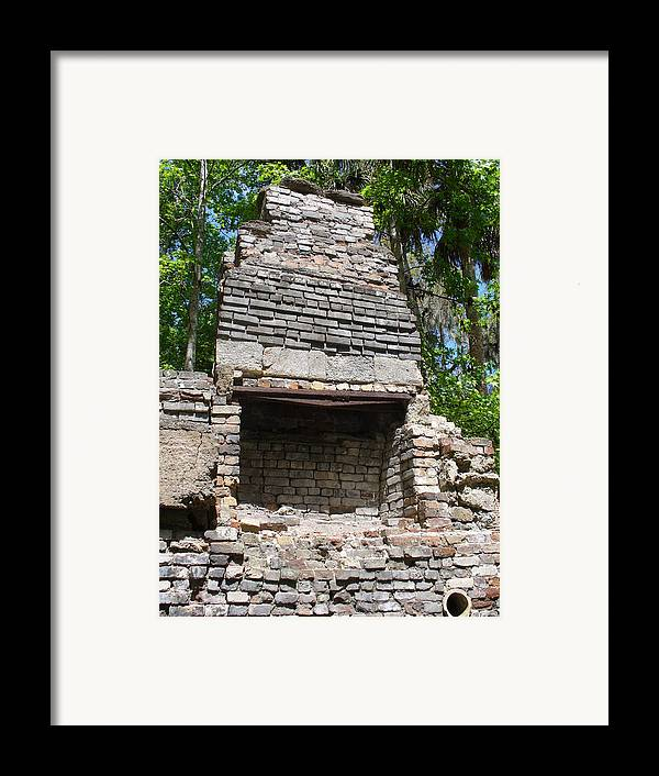 Stone Framed Print featuring the photograph Chimney by Stephanie Richards