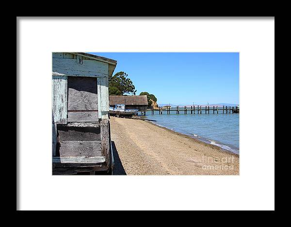 China Camp Framed Print featuring the photograph China Camp In Marin Ca by Wingsdomain Art and Photography