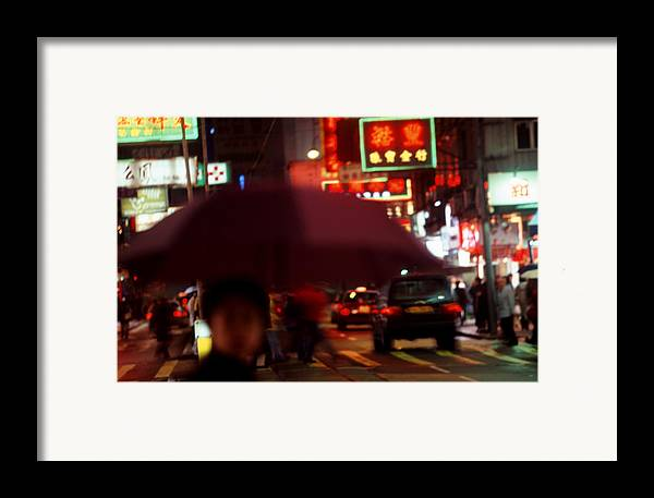 China Framed Print featuring the photograph China Street Scene Hong Kong by Brad Rickerby