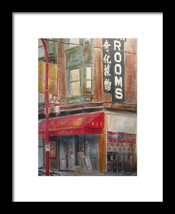 Rooming House Framed Print featuring the painting Chinatown 1 by Victoria Heryet
