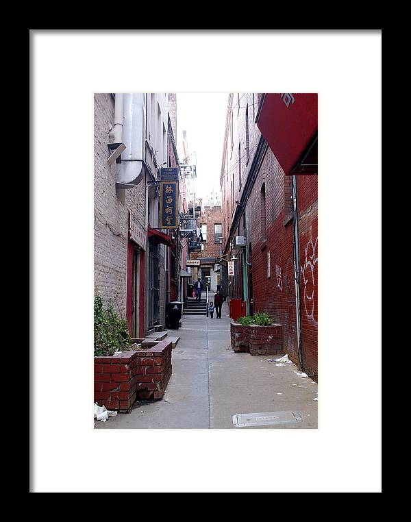 San Francisco Framed Print featuring the photograph Chinatown Alley by Sonja Anderson