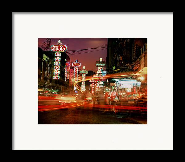 Bangkok Framed Print featuring the photograph Chinatown In Bangkok by Brad Rickerby