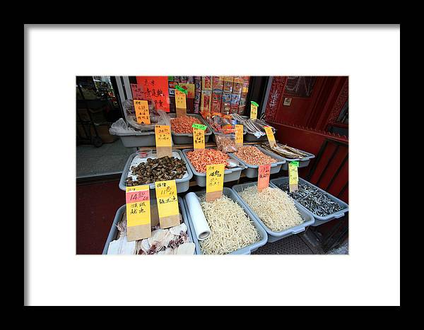 Storefront Framed Print featuring the photograph Chinatown Market by Mary Haber