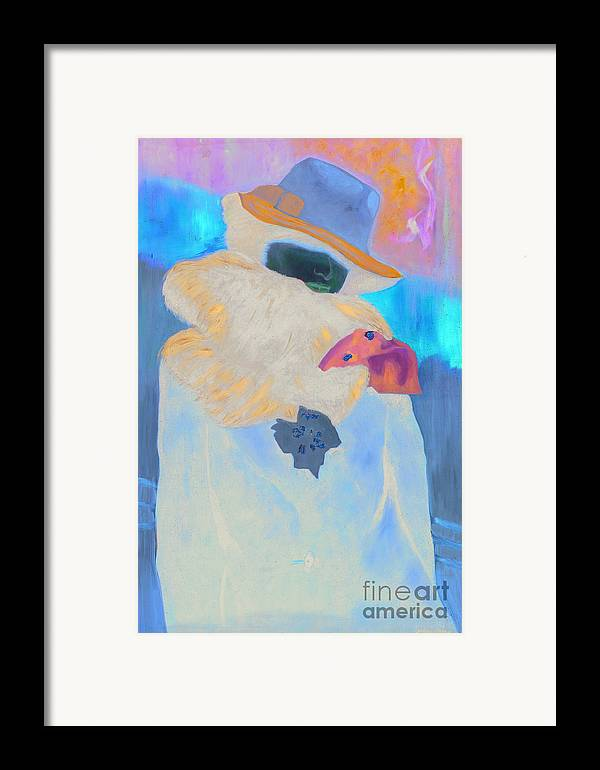 Framed Print featuring the painting Chinchilla by Krzis-Lorent Frederique