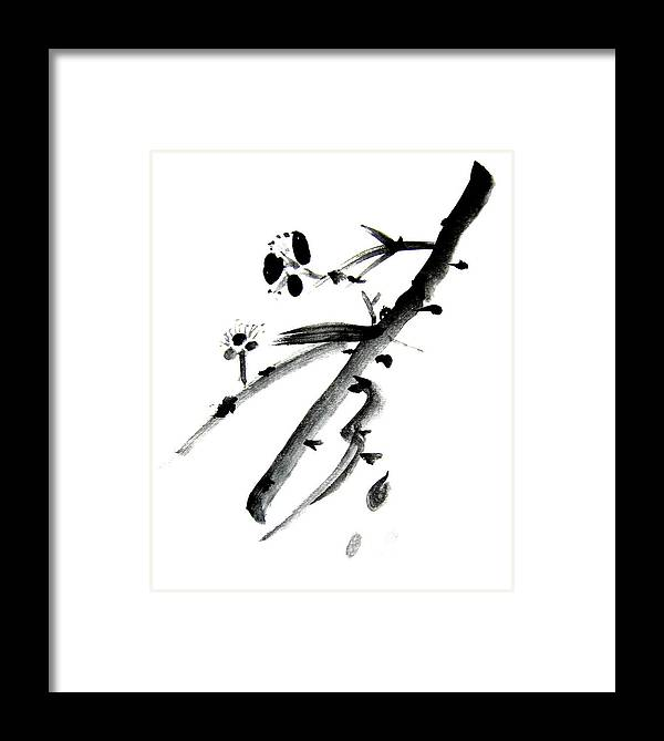 Chinese Brush Framed Print featuring the painting Chinese Brush L by Danny Pike