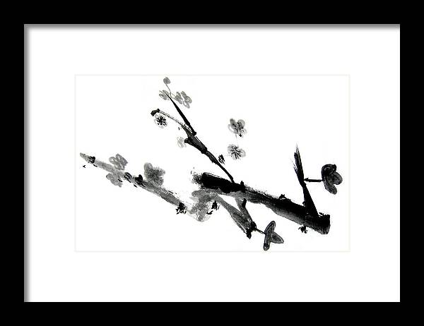 Chinese Brush Framed Print featuring the painting Chinese Brush Lv by Ed Deloria