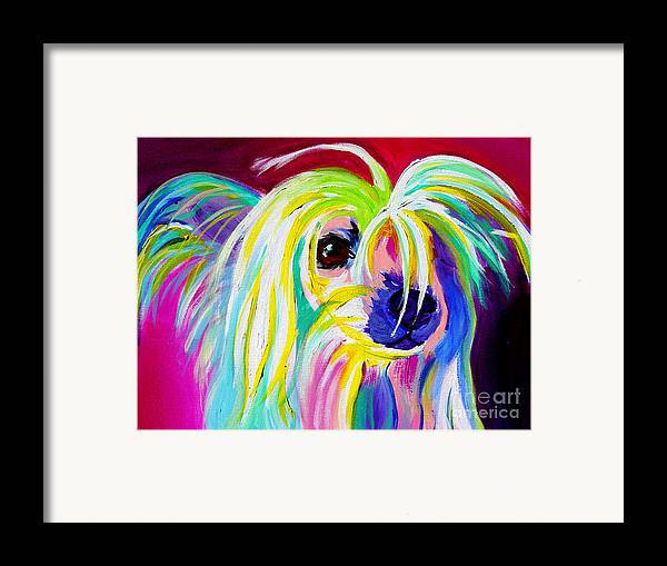 Dog Framed Print featuring the painting Chinese Crested - Fancy Pants by Alicia VanNoy Call