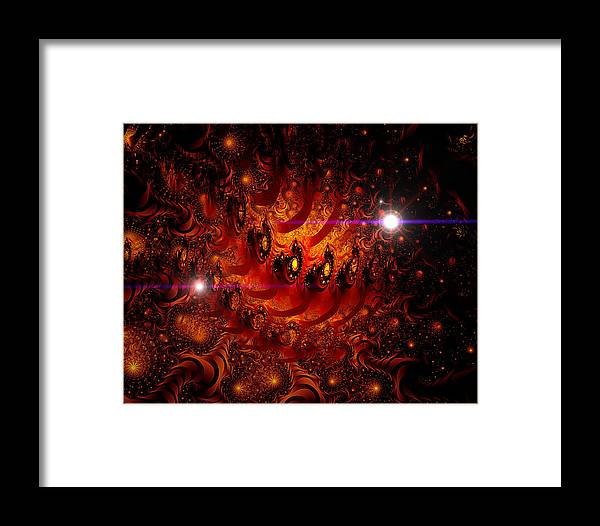 Space Framed Print featuring the digital art Chinese Dragon Galaxy by Roger Soule
