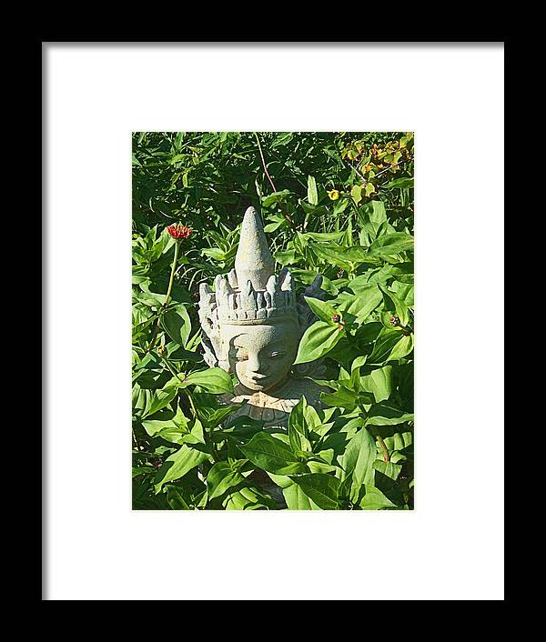 Asian Framed Print featuring the photograph Chinese Garden Gnome by Mark Sellers