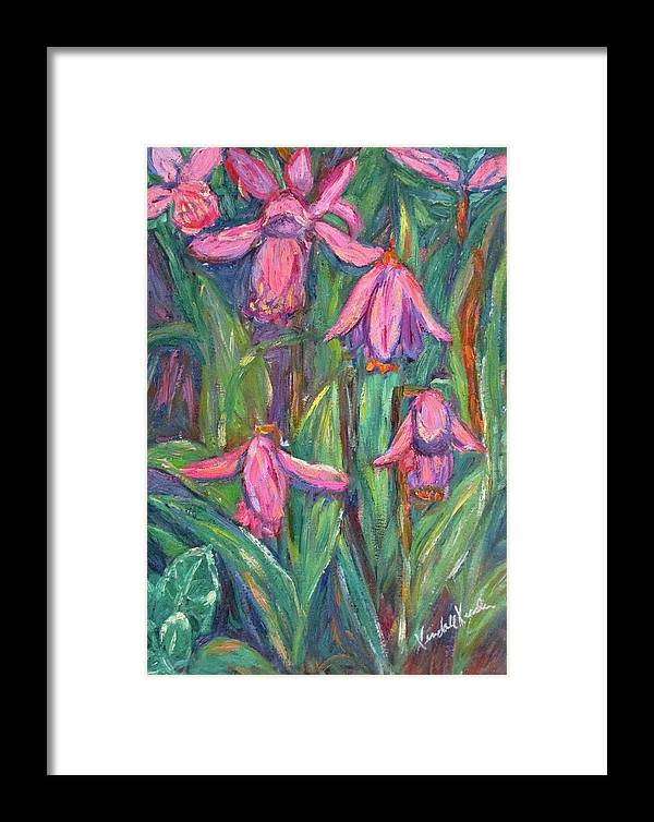 Floral Framed Print featuring the painting Chinese Orchids by Kendall Kessler