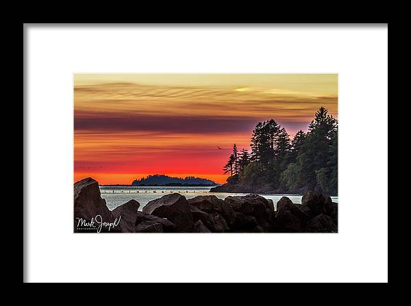 Sunset Framed Print featuring the photograph Chinook Sunset 2 by Mark Joseph
