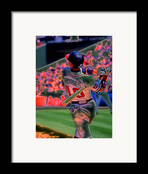 Baseball Framed Print featuring the photograph Chipper Jones by Rod Kaye