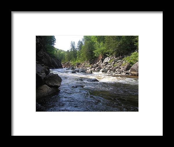 Lanscape Framed Print featuring the photograph Chippewa River Canada by Bruce McEntyre
