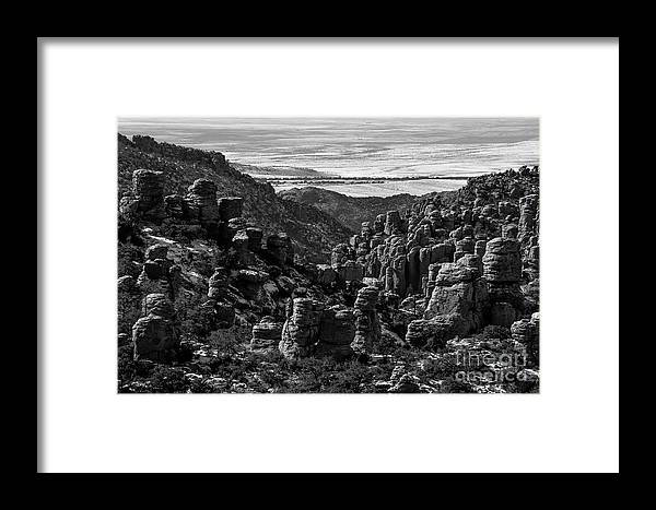 Chiricahua Mountains Framed Print featuring the photograph Chiricahua Hoodoo Vista by Charles Norkoli
