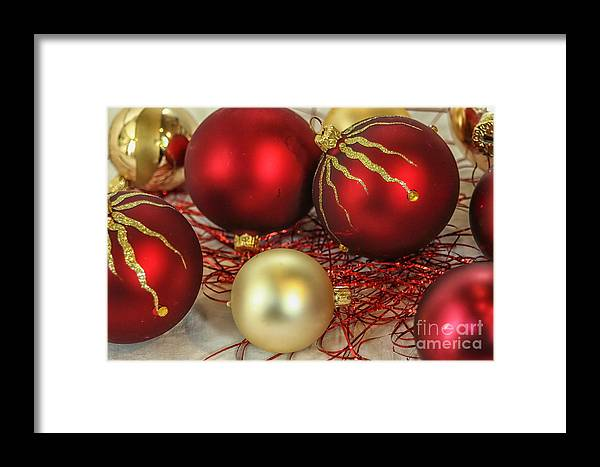 Background Framed Print featuring the photograph Chirstmas Ornaments by Patricia Hofmeester