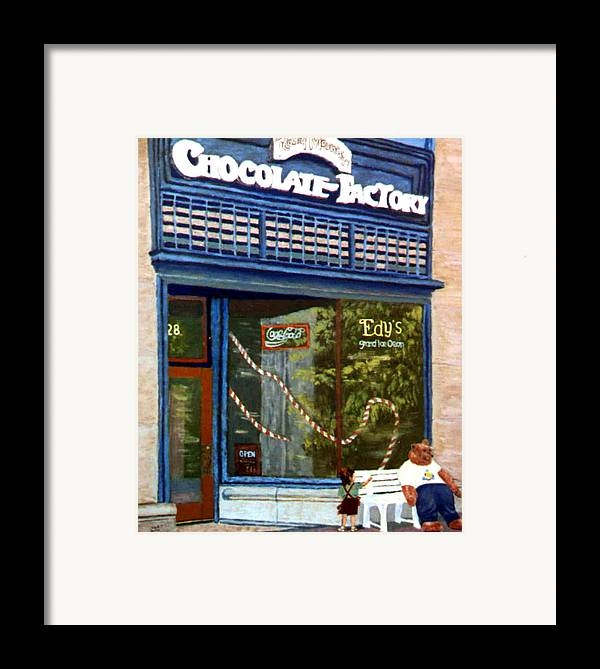 Original Oil On Panel Framed Print featuring the painting Chocolate Factory by Stan Hamilton