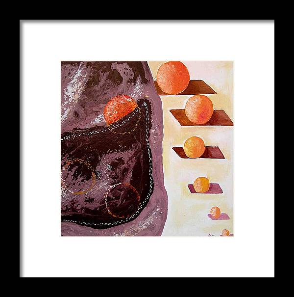 Framed Print featuring the painting Chocolate Pocket by Evguenia Men